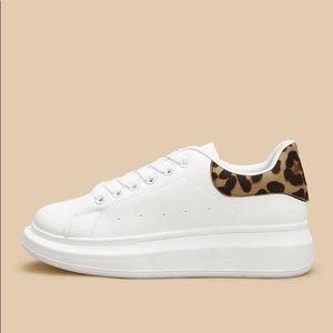 Colors of California White & Cheetah Print Sneaker